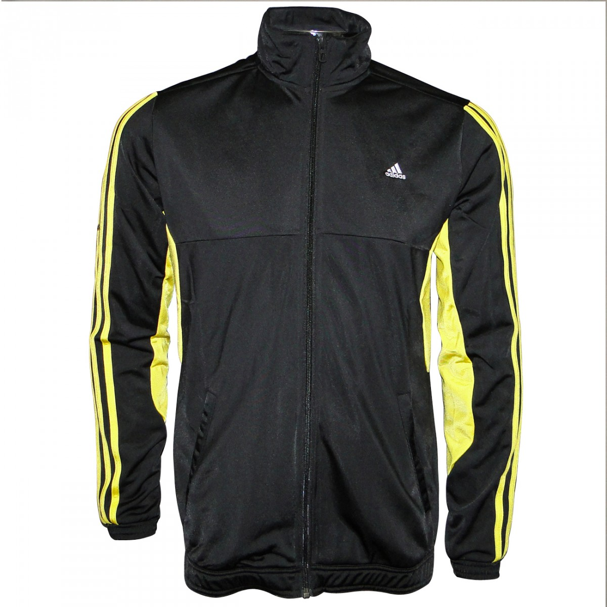 bdb986030 Agasalho Adidas Yb Ts Tiberio Infantil Z32825 - Preto/Amarelo ...