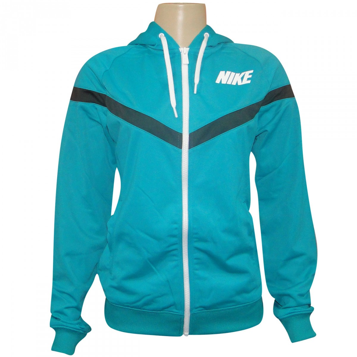 3fa07a5cd3f7c Agasalho Nike 545786 545786 320 - Verde Grafite Branco - Chuteira Nike