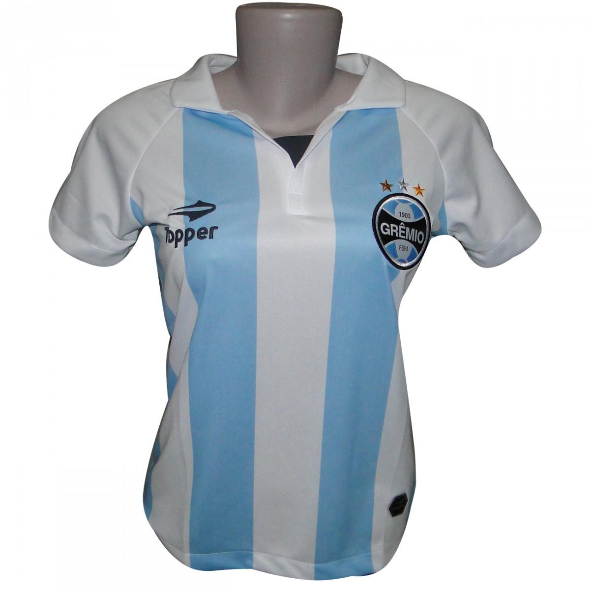 44e161a774a Baby Look Gremio Topper Alma Castelhana 2012 C1095F - Branco  Azul . 146dd35a59bbf
