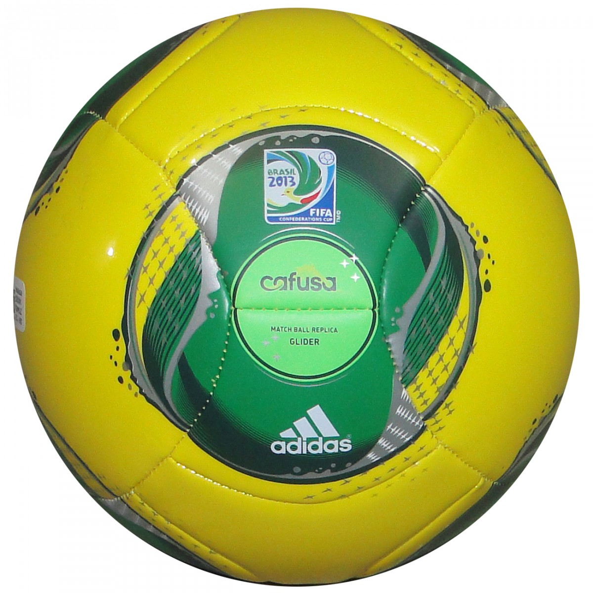 ff6fbee3427c3 Bola Adidas Cafusa Confed. 2013 Z19465 - Amarelo Verde - Chuteira Nike