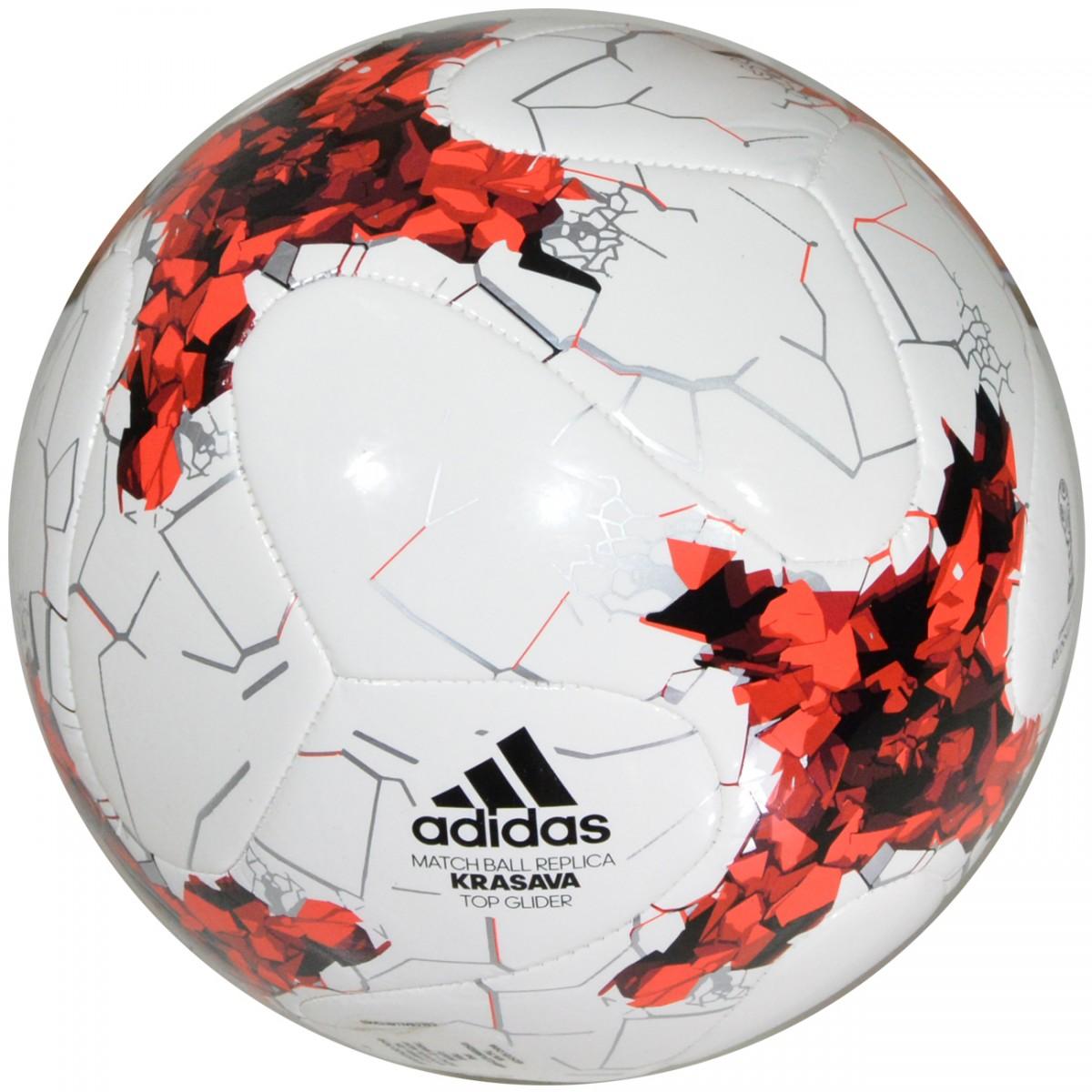 956904e2a8 Bola Adidas Copa das Confederações Russia 2017 AZ3204 - Branco Vermelho -  Chuteira Nike