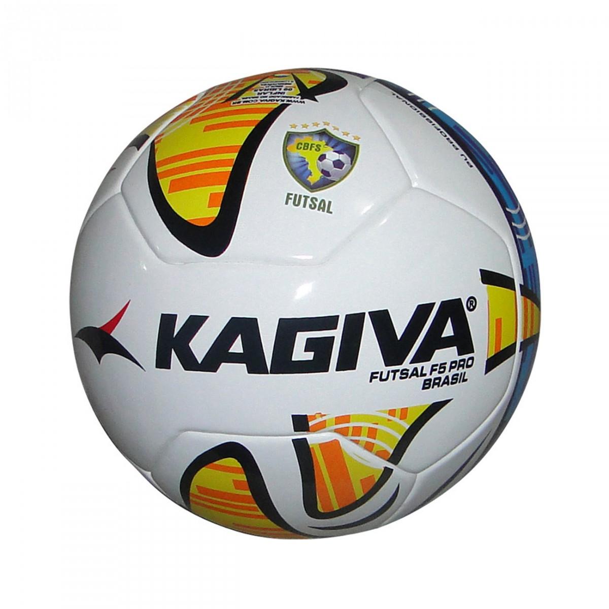 Bola Kagiva F5 Pro 8504-0 - Branco Azul Amarelo - Chuteira Nike ... 7cb46a1e957dc