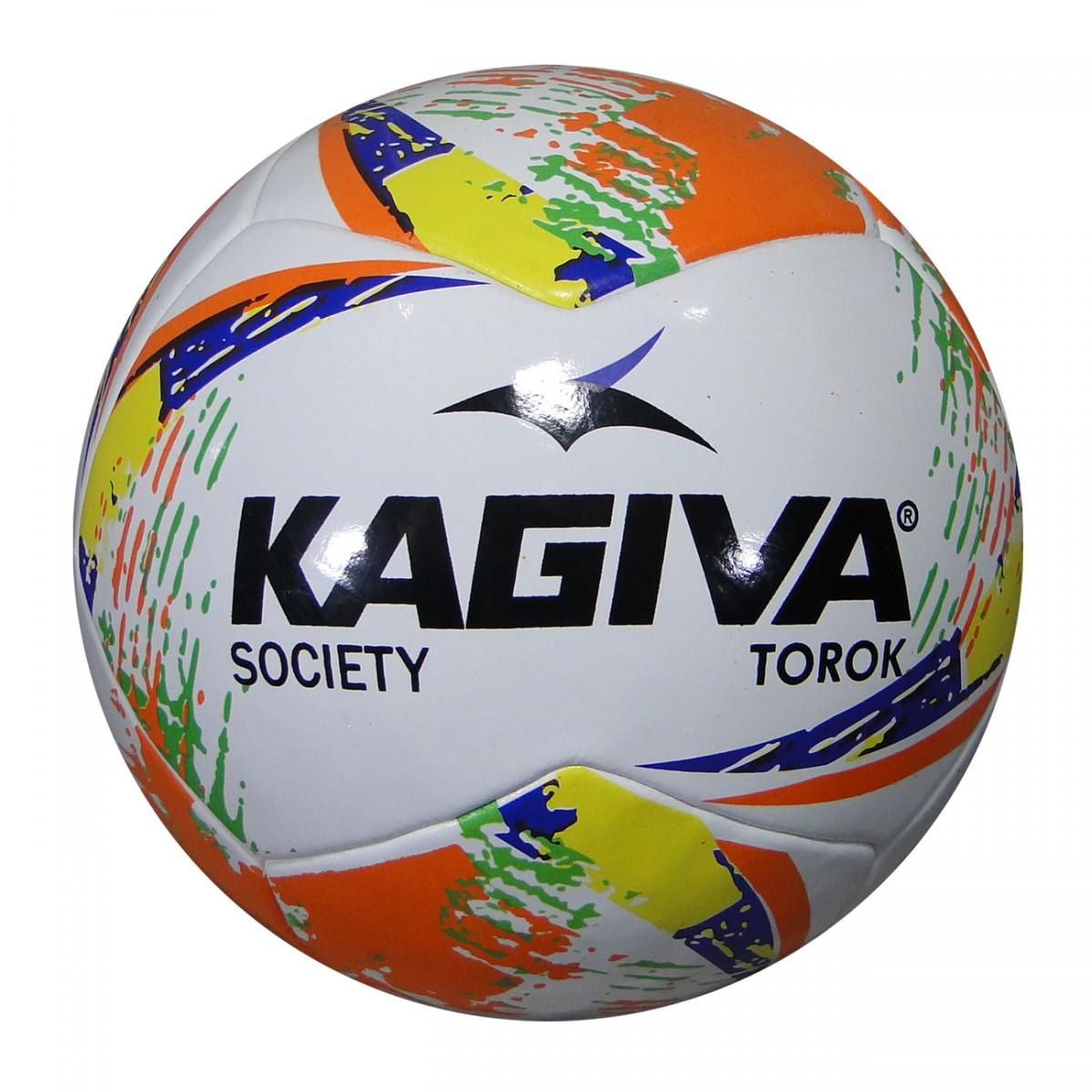 7041f33426 Bola Kagiva Torok Society 0047 - Branco Laranja Amarelo - Chuteira Nike