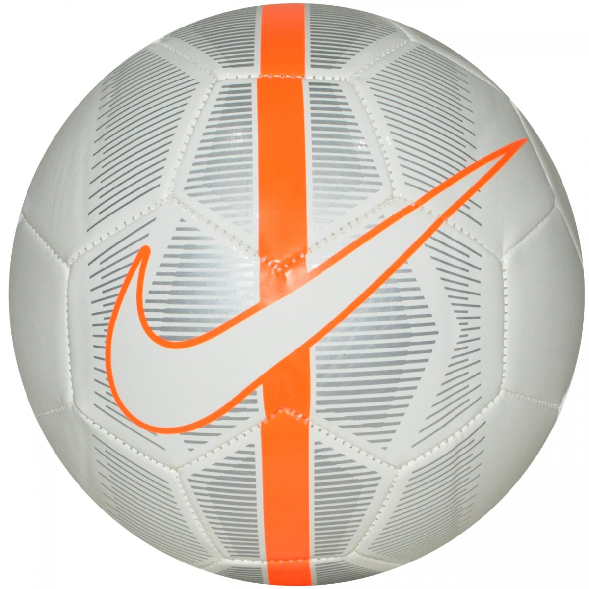 Bola Nike Mercurial Fade SC3023 - 100 - Branco prata laranja - Chuteira Nike 6b6035a2eddb6