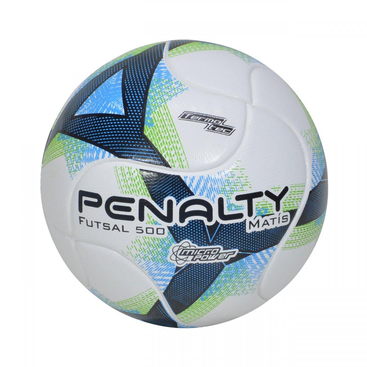 49a7044c9c199 Bola Penalty Matis 500 Futsal 5402021540 - Branco azul verde - Chuteira  Nike