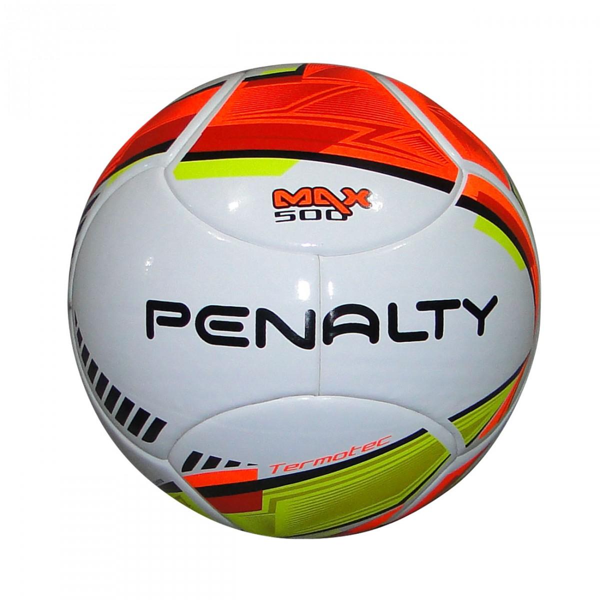 73ea6494fea26 Bola Penalty Max 500 Futsal 5412921830 - Branco Laranja Amarelo - Chuteira  Nike