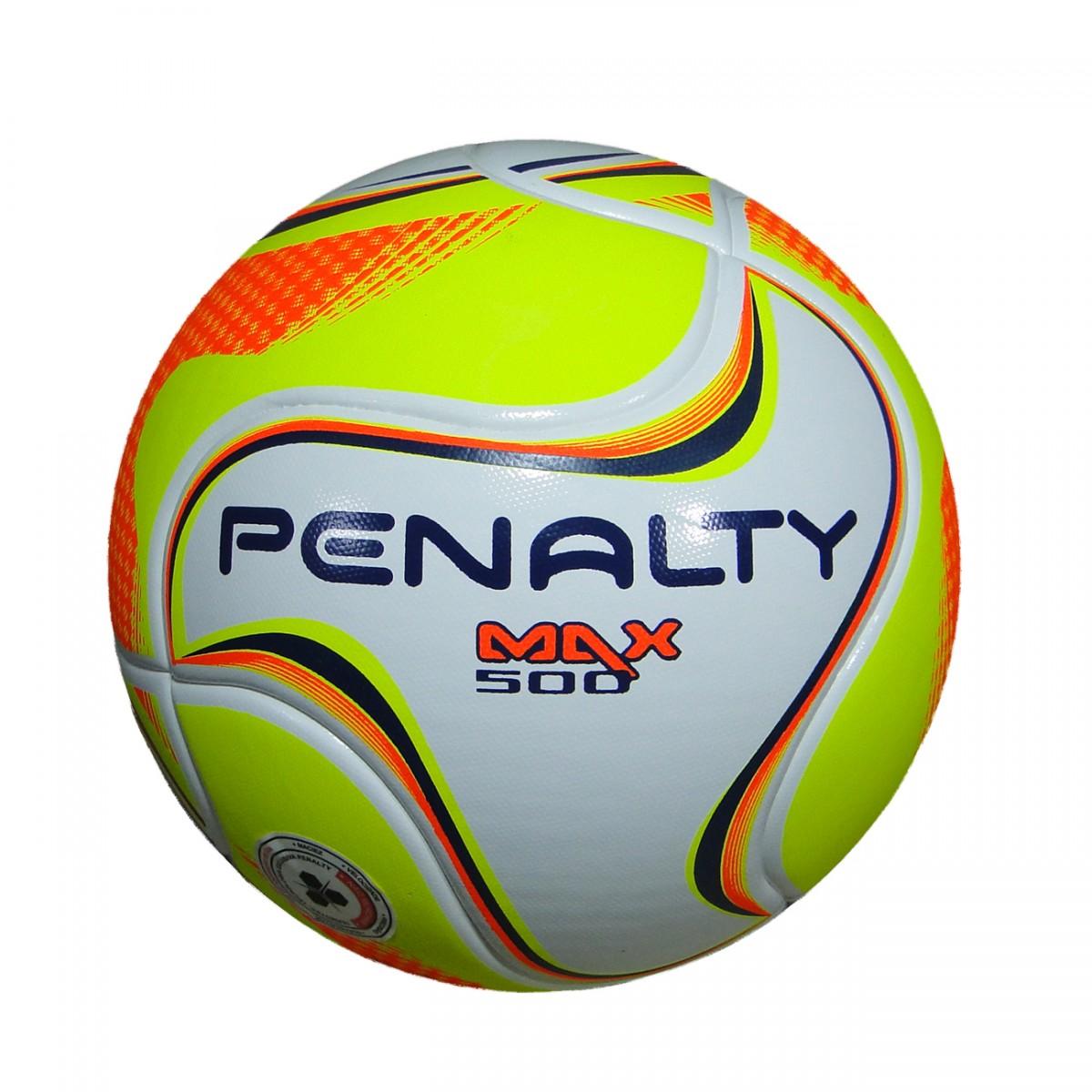 a585efac8a6eb Bola Penalty Max 500 VI Futsal 5413941830 - Branco Amarelo Laranja -  Chuteira Nike