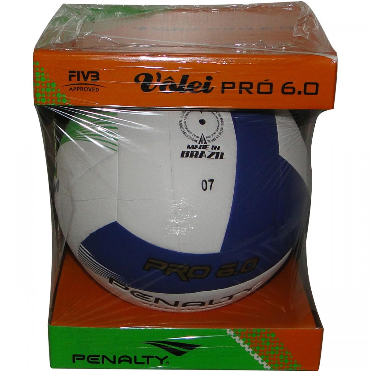 Bola Penalty Volei 6.0 Pro 3622 - BRANCO AZUL VERDE - Chuteira Nike ... 3bb7a8b233ce8
