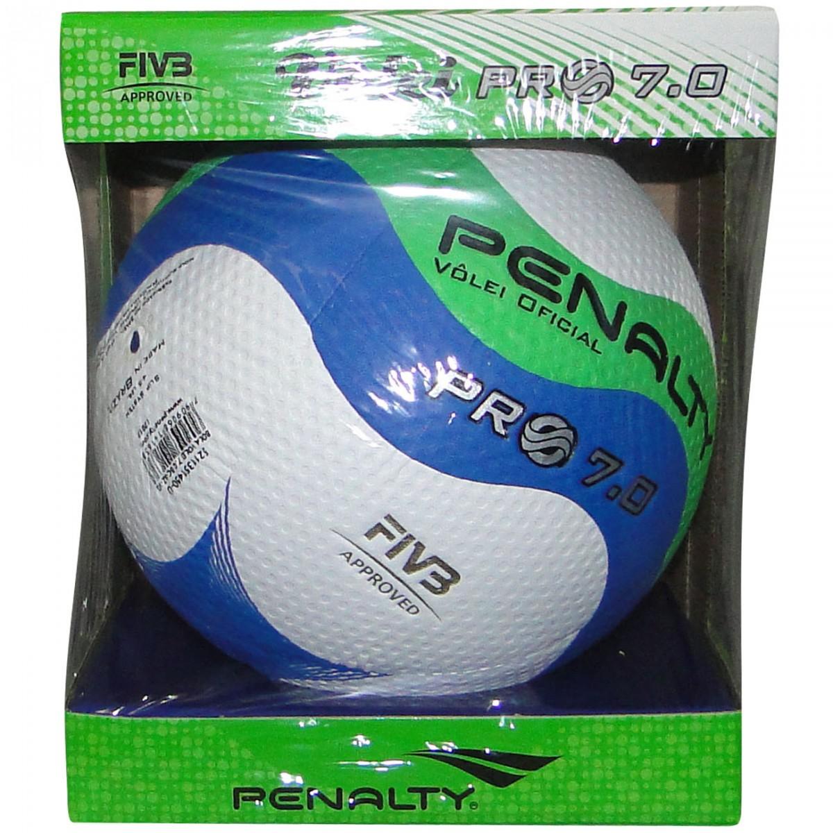 Bola Penalty Volei 7.0 Pro 8141 - Branco Azul Verde - Chuteira Nike ... 3122aa55cdbc9