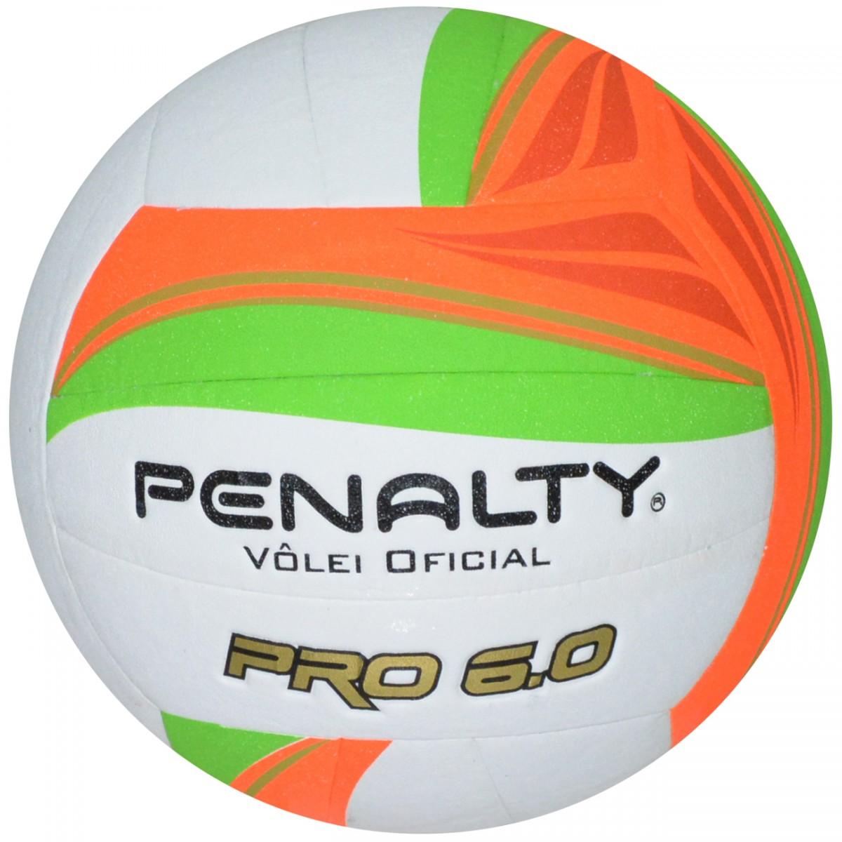 Bola Penalty Volei Pro 6.0 5211661790 - Branco Laranja Verde - Chuteira  Nike 40eeec7789a69