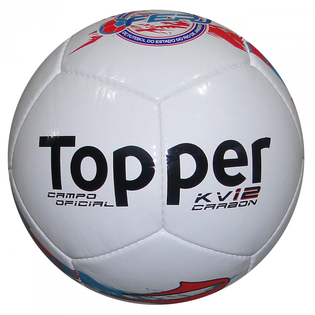 Bola Topper Kv 12 Carbon 4129032-0341-998 - Branco Azul Vermelho - Chuteira  Nike 375576423268b