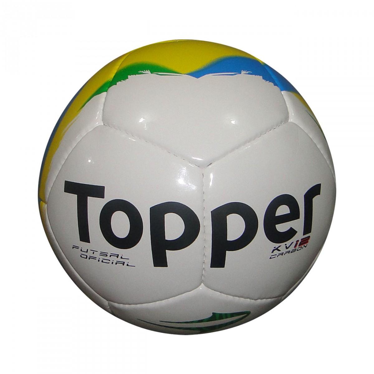 Bola Topper Kv 12 Carbon Futsal 4130756 0338 998 - Branco Amarelo Azul -  Chuteira Nike 574f3713a564b