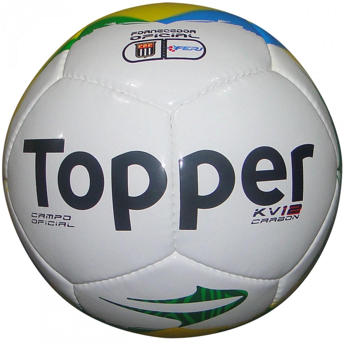 60e047409c Bola Topper Kv Carbon 4130741 0338 998 - Branco Amarelo Azul - Chuteira  Nike