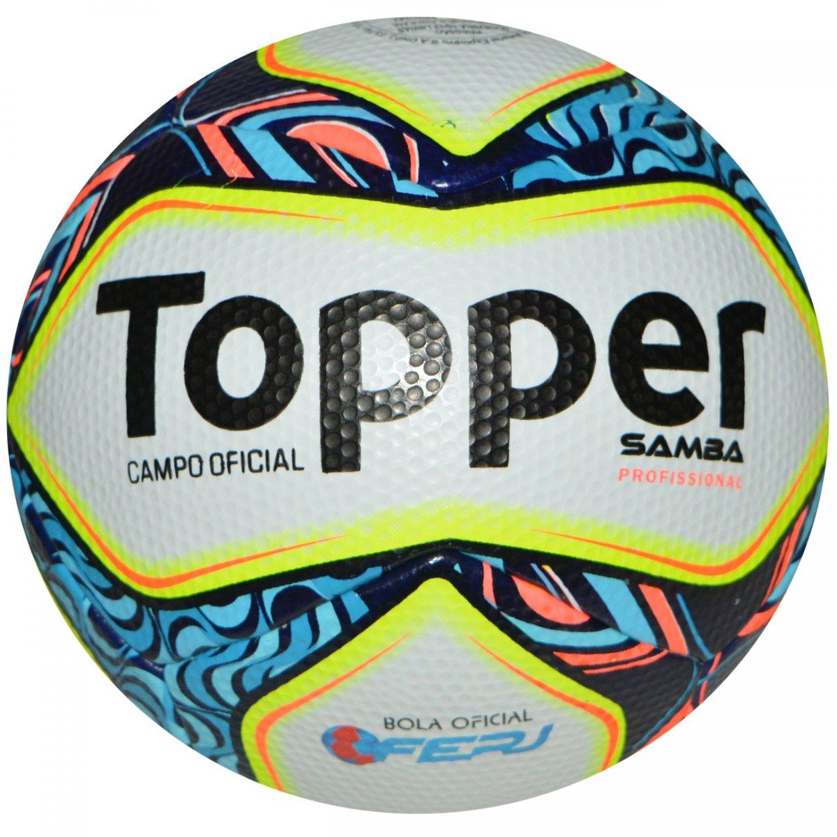 a5a426eb3d1f2 Bola Topper Samba Pro 4140040 0455 99 - Branco azul amarelo - Chuteira  Nike