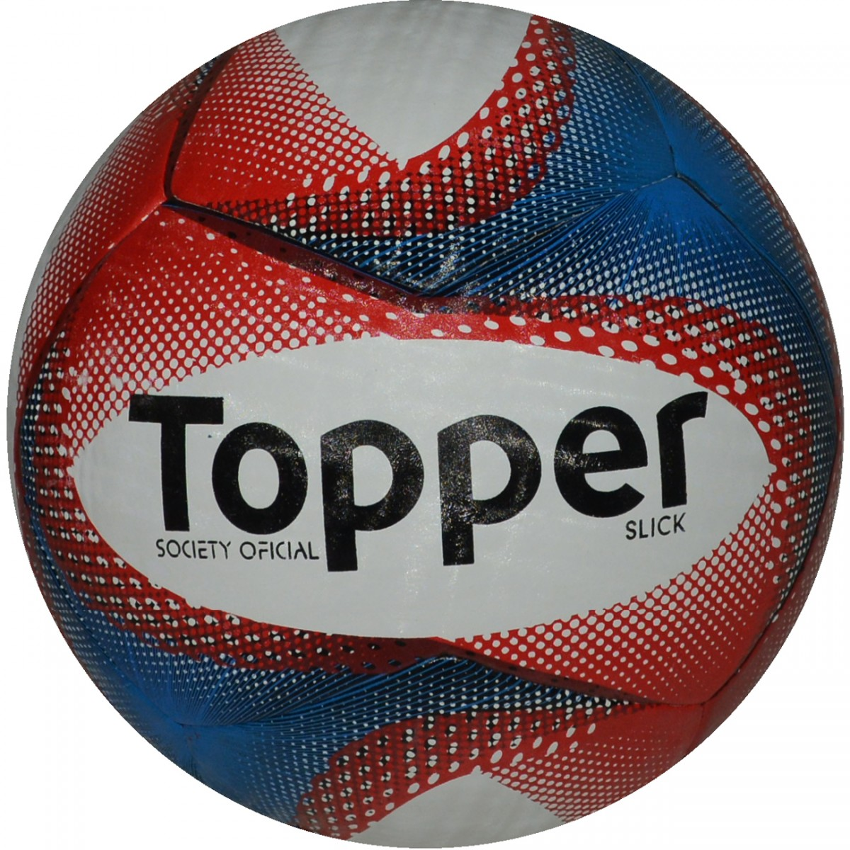 Bola Topper Slick Society 9025 - Branco Azul Vermelho - Chuteira Nike 772351d7ecdcc