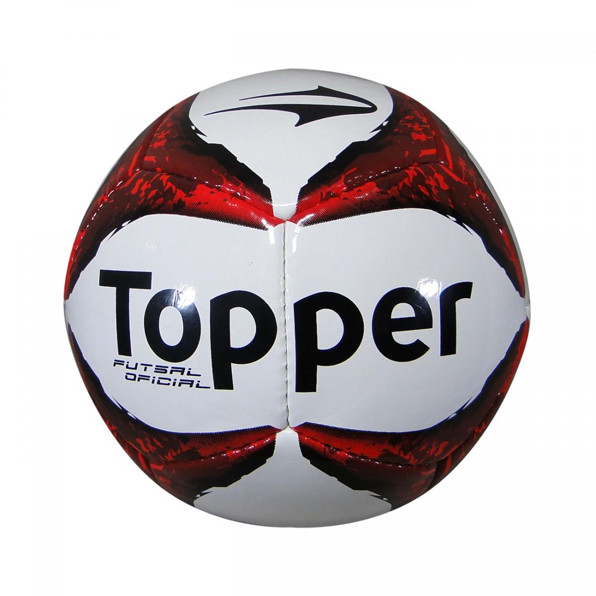 a71df905f5 Bola Topper Ultra VII Futsal 2305-Z 368-21 - Branco Preto Vermelho -  Chuteira Nike
