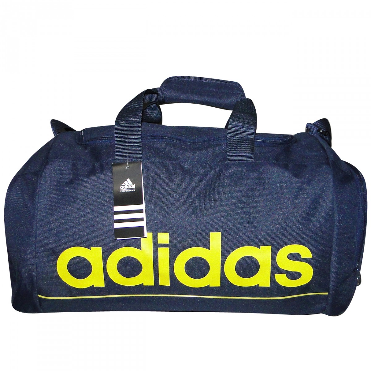 1798fe9a37c53f Bolsa Adidas Linear Ess Ref.Z26297 Z26297 - Marinho/Amarelo ...