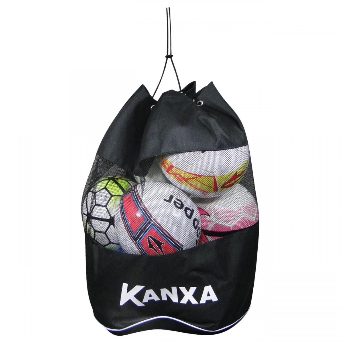 139020c76a918 Bolsa de bola Kanxa 11 8149 - Preto/Branco - Chuteira Nike, Adidas.  Sandalias Femininas. Sandy Calçados