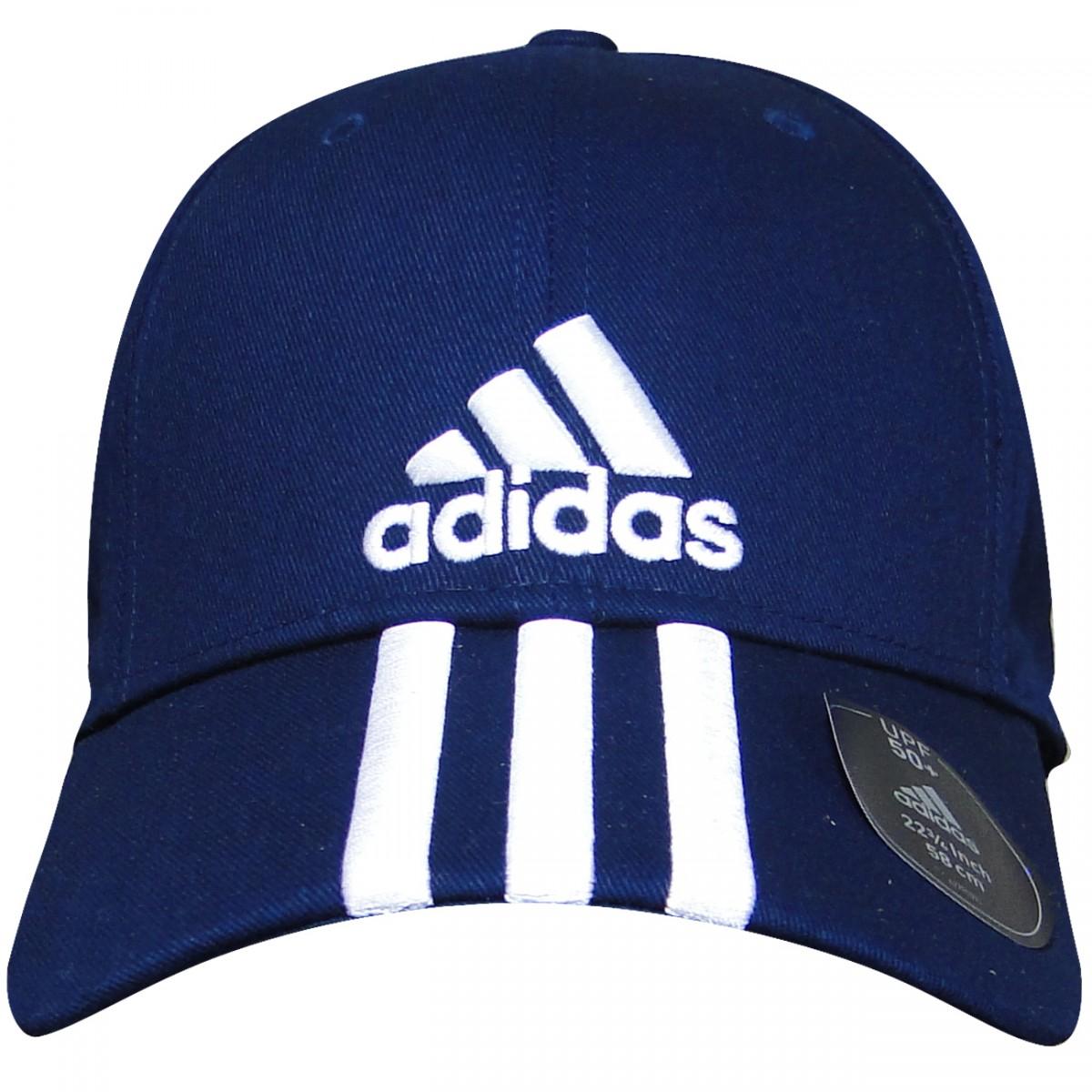 Bone Adidas Perf Cap 3S AJ9221 - Marinho Branco - Chuteira Nike ... f0106939cf8