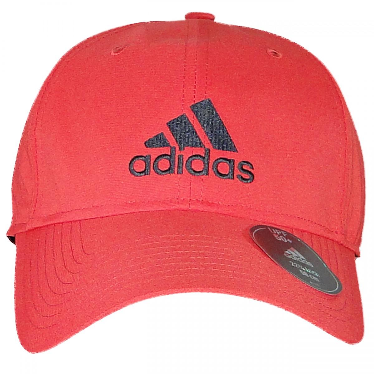 c908b429f6 Bone Adidas Perf Cap Logo AY4864 - Vermelho/Preto - Chuteira Nike, Adidas.  Sandalias Femininas. Sandy Calçados