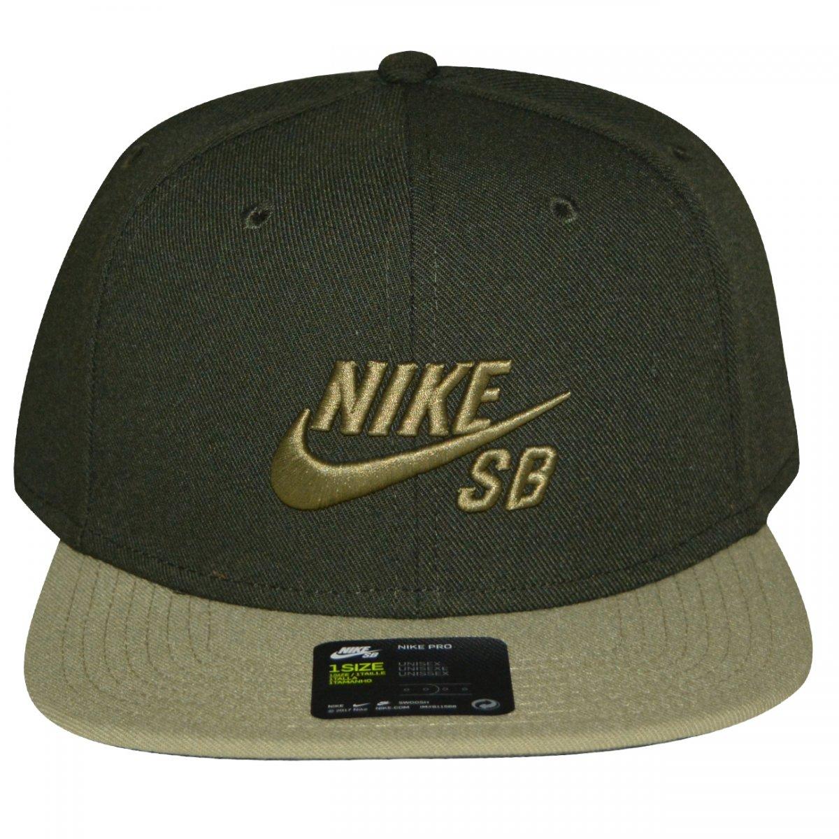 Bone Nike 628683 628683-355 - Verde musgo - Chuteira Nike 094eca84b3