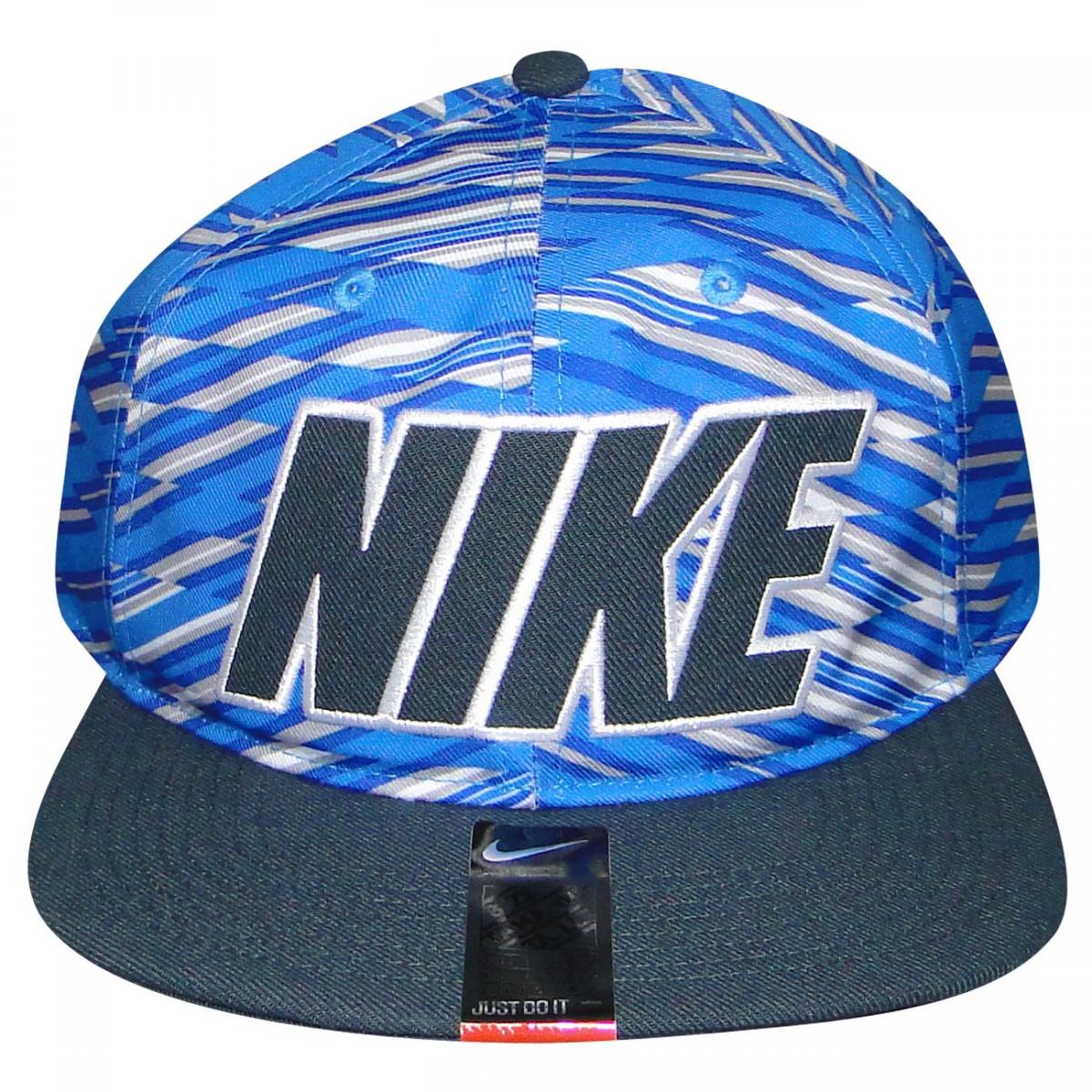 Bone Nike 666412 666412-435 - Azul Branco Preto - Chuteira Nike ... cae753782fc