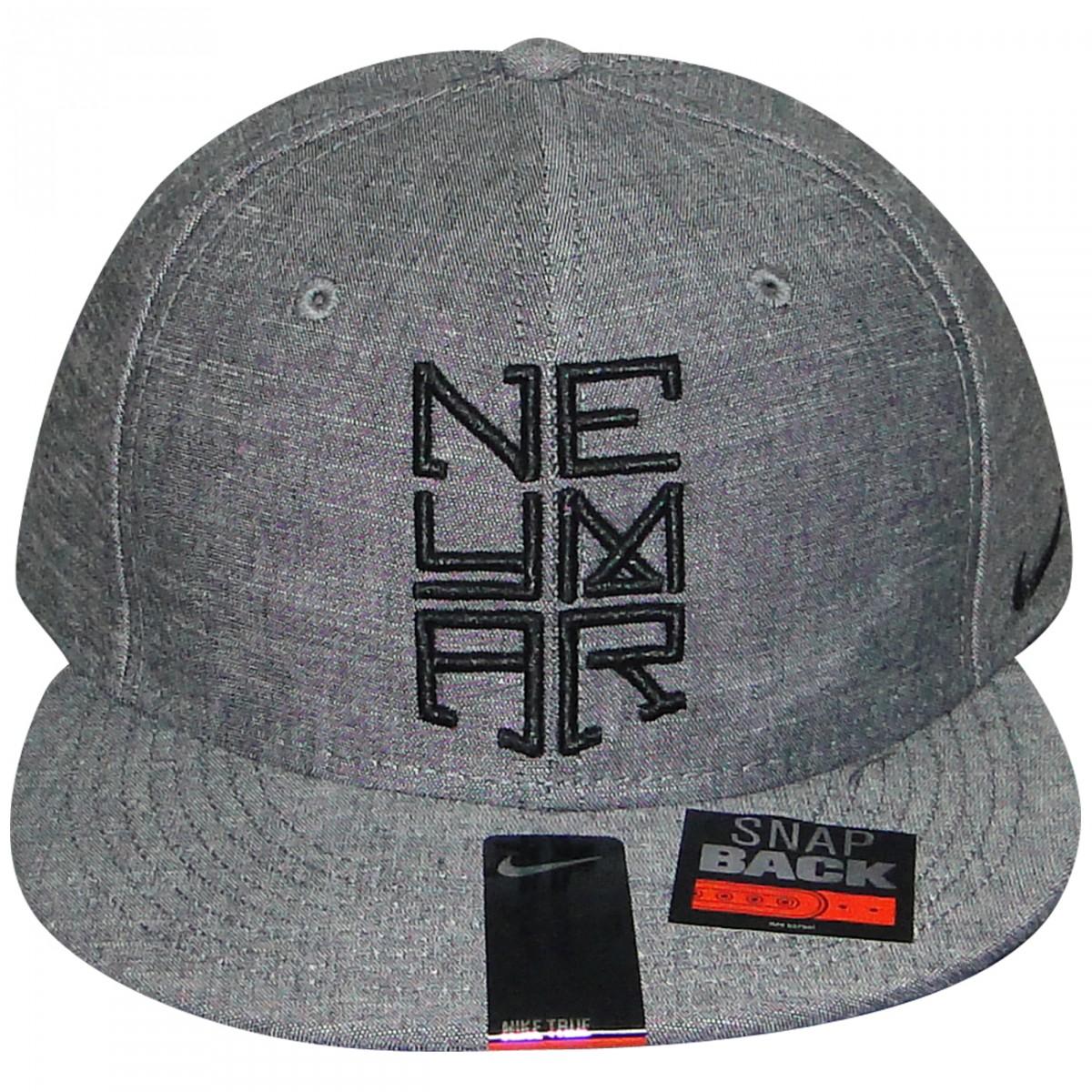 Bone Nike Neymar 612660 612660 032 - Grafite Preto - Chuteira Nike ... c1d29cafd39