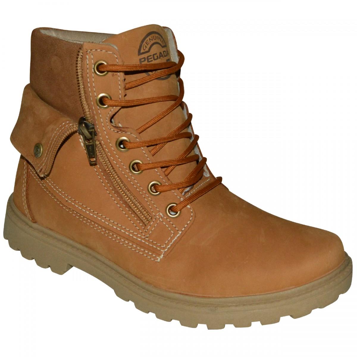 d2c24344a8 Bota Pegada 280001 280001 06 - Whisky/Tabaco - Chuteira Nike, Adidas.  Sandalias Femininas. Sandy Calçados