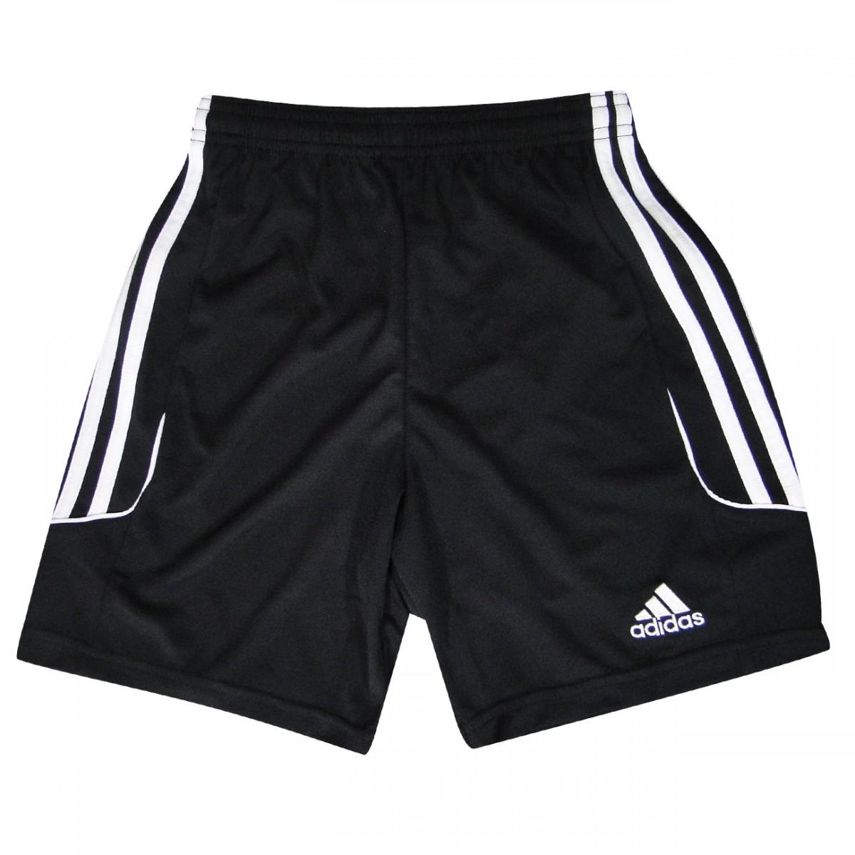 60dbb1176a Calção Adidas Squadra 13 Infantil Z21585 - Preto Branco - Chuteira Nike