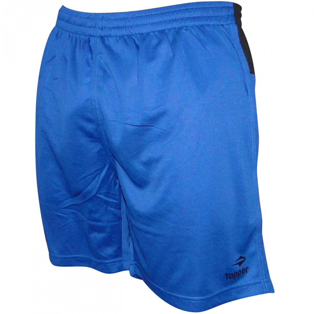 893e587c9c Calção Topper Score 4128564 5158 - Azul Preto - Chuteira Nike ...