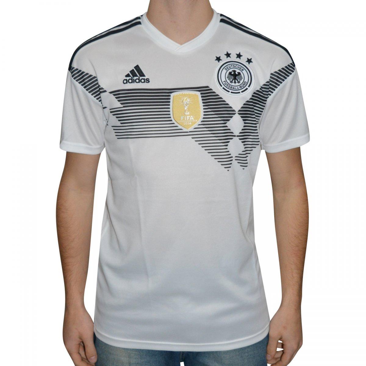 Camisa Adidas Alemanha 1 2018 BR7843 - Branco preto - Chuteira Nike ... a245e46766c74