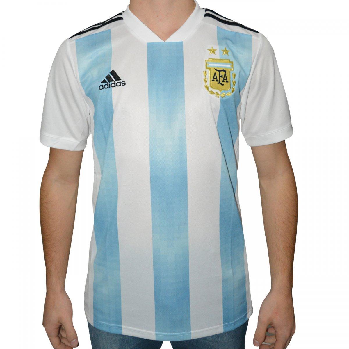 Camisa Adidas Argentina i 2018 BQ9324 - Azul branco - Chuteira Nike ... a5edd7ffc2b88