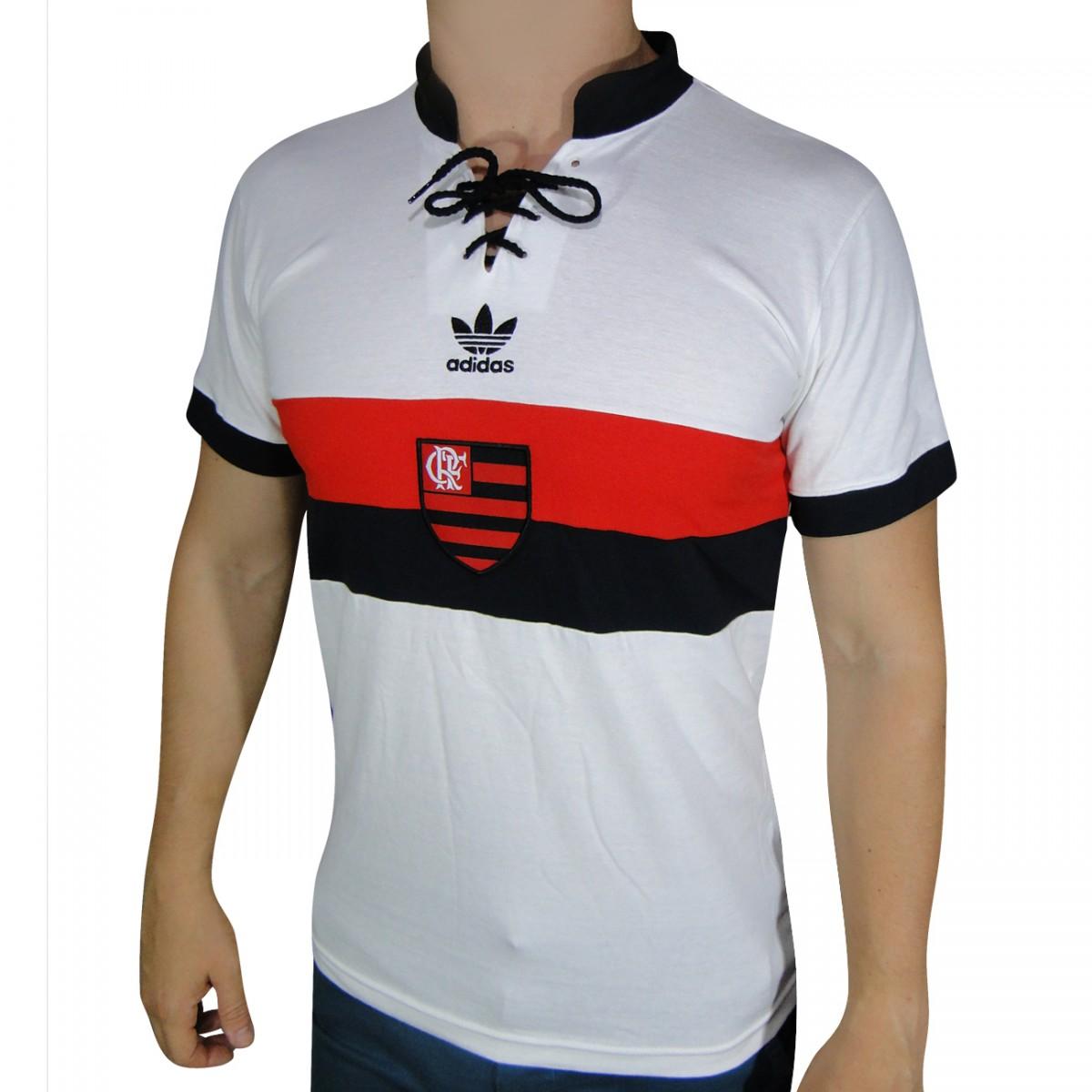77633a00c53 Camisa Adidas Flamengo Retro S09183 - Branco - Chuteira Nike 170126181e57c