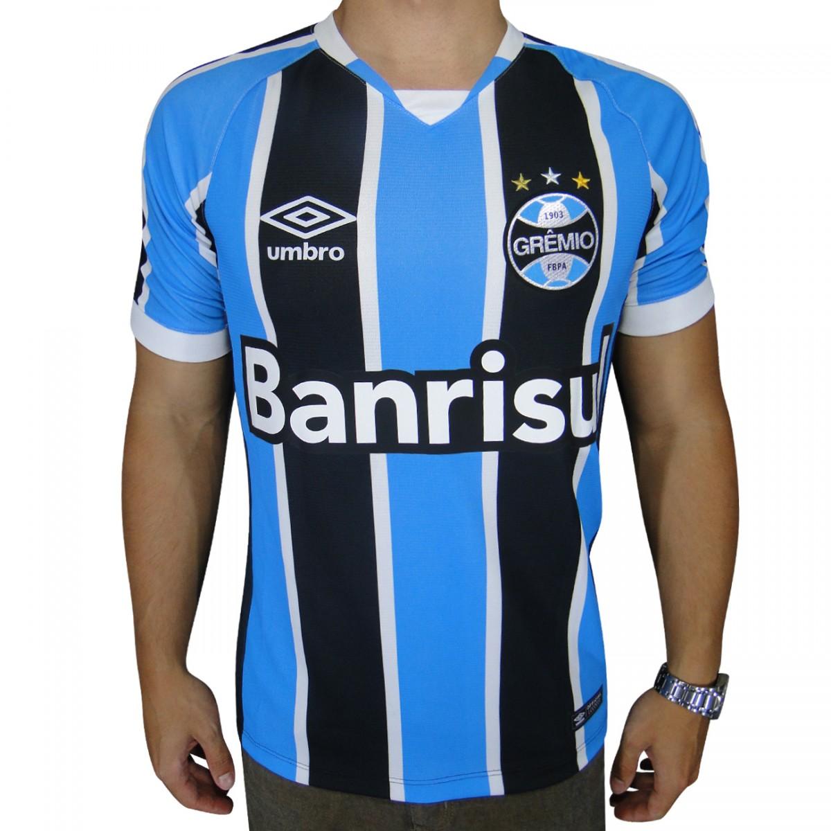 Camisa Gremio Umbro 2016 644562 - Tricolor - Chuteira Nike 08c7c28d154be