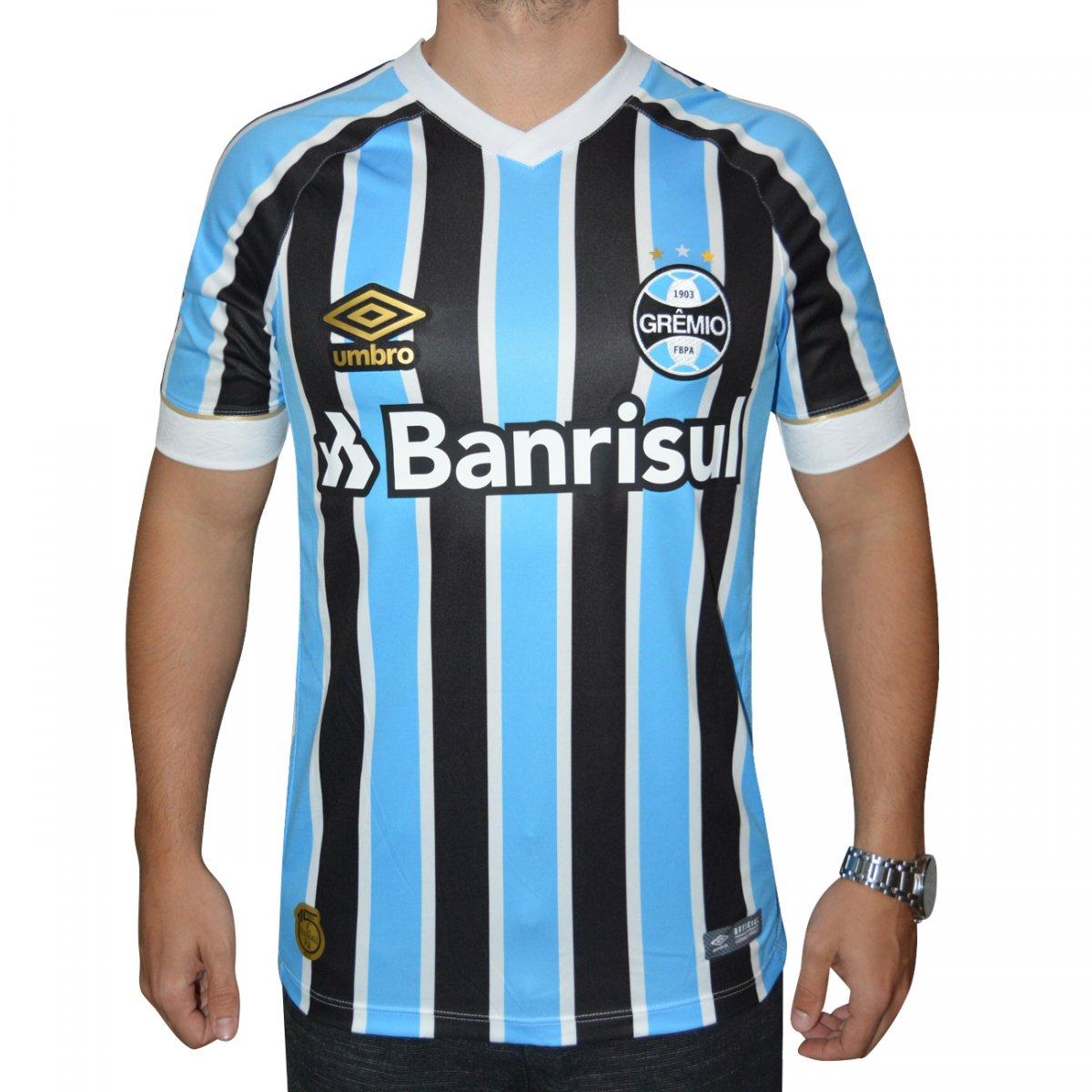 Camisa Gremio Umbro 2018 Game 778215 - Tricolor - Chuteira Nike ... 356baff7baadc