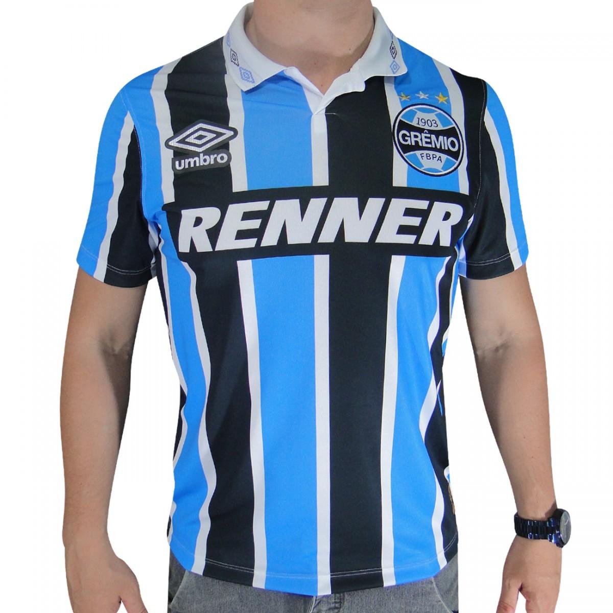 Camisa Gremio Umbro Bi Libertadores 1995 642387 - Tricolor - Chuteira Nike 1e53861c04648