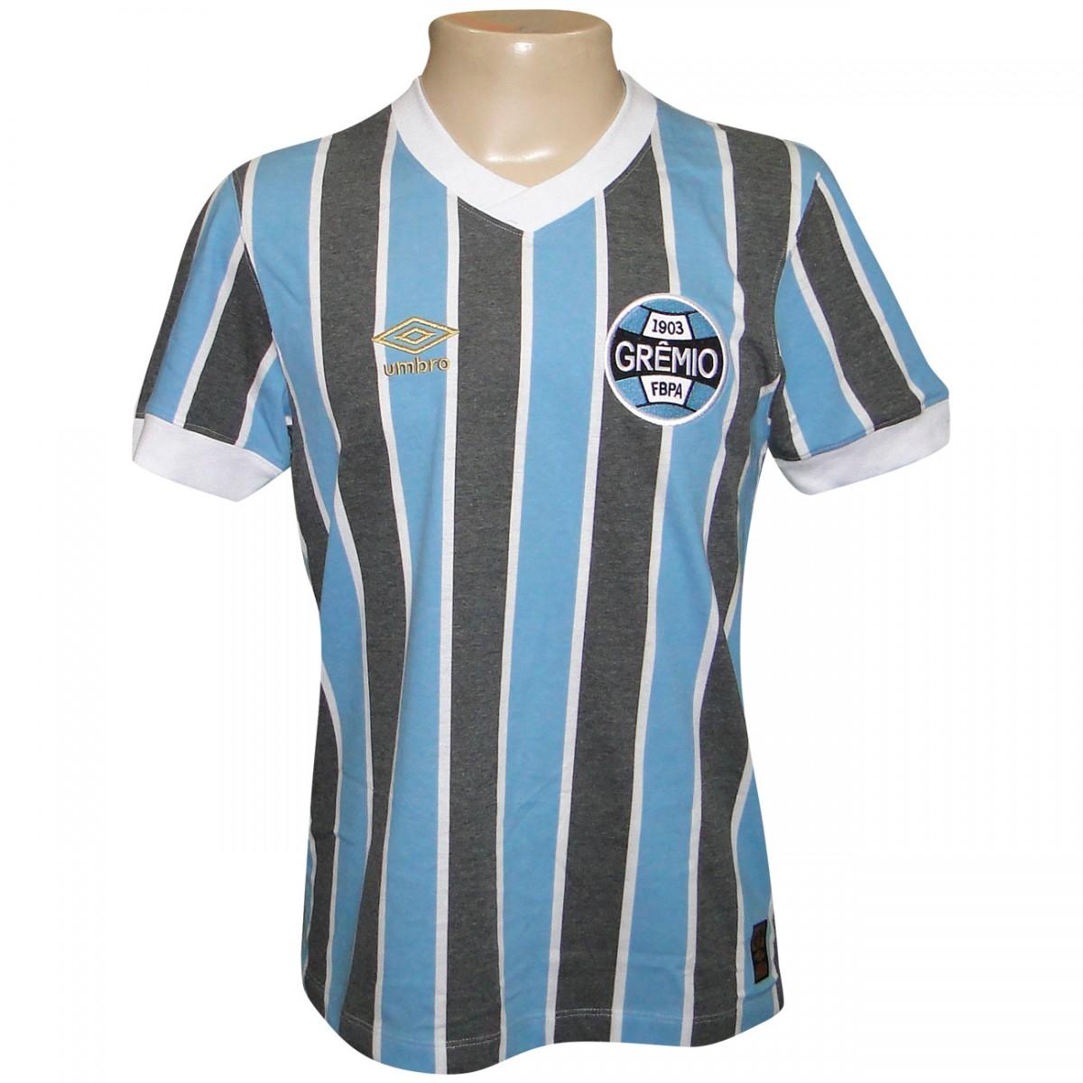 6f7ad21c95f01 Camisa Gremio Umbro Retro 1983 606362 - Tricolor - Chuteira Nike ...