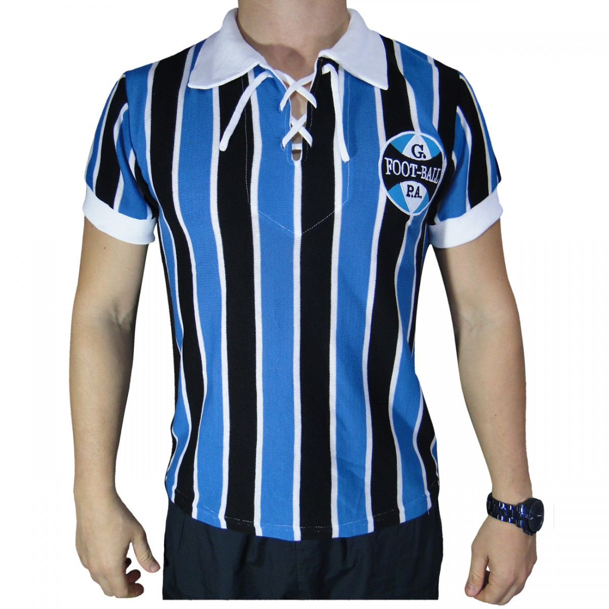 Camisa Gremio Uniforme 1929 Retro G5280 - Tricolor - Chuteira Nike ... 969e25a3174aa