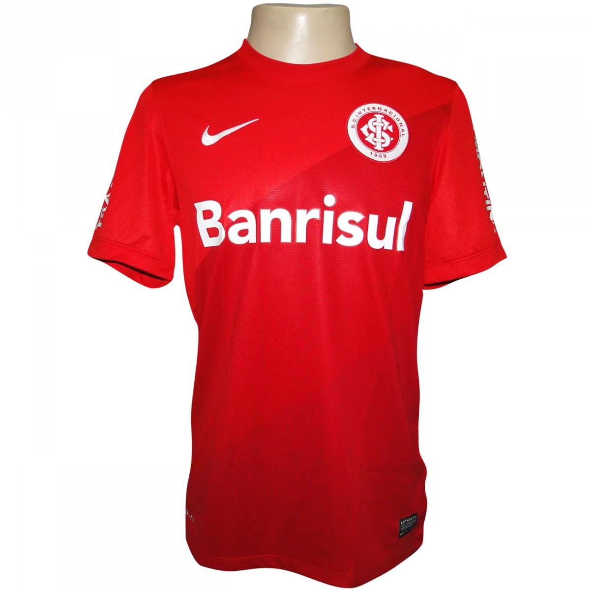 Camisa Inter Nike 2013 2014 544794 612 - Vermelho Branco - Chuteira Nike d3cf2393b7039