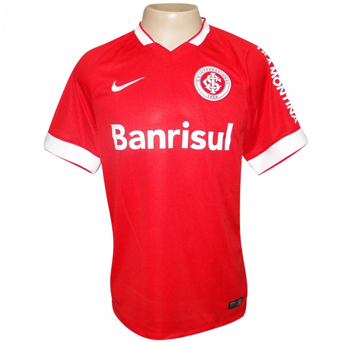 0530f1f4559 Camisa Inter Nike 2014 619204 612 - Vermelho Branco - Chuteira Nike ...