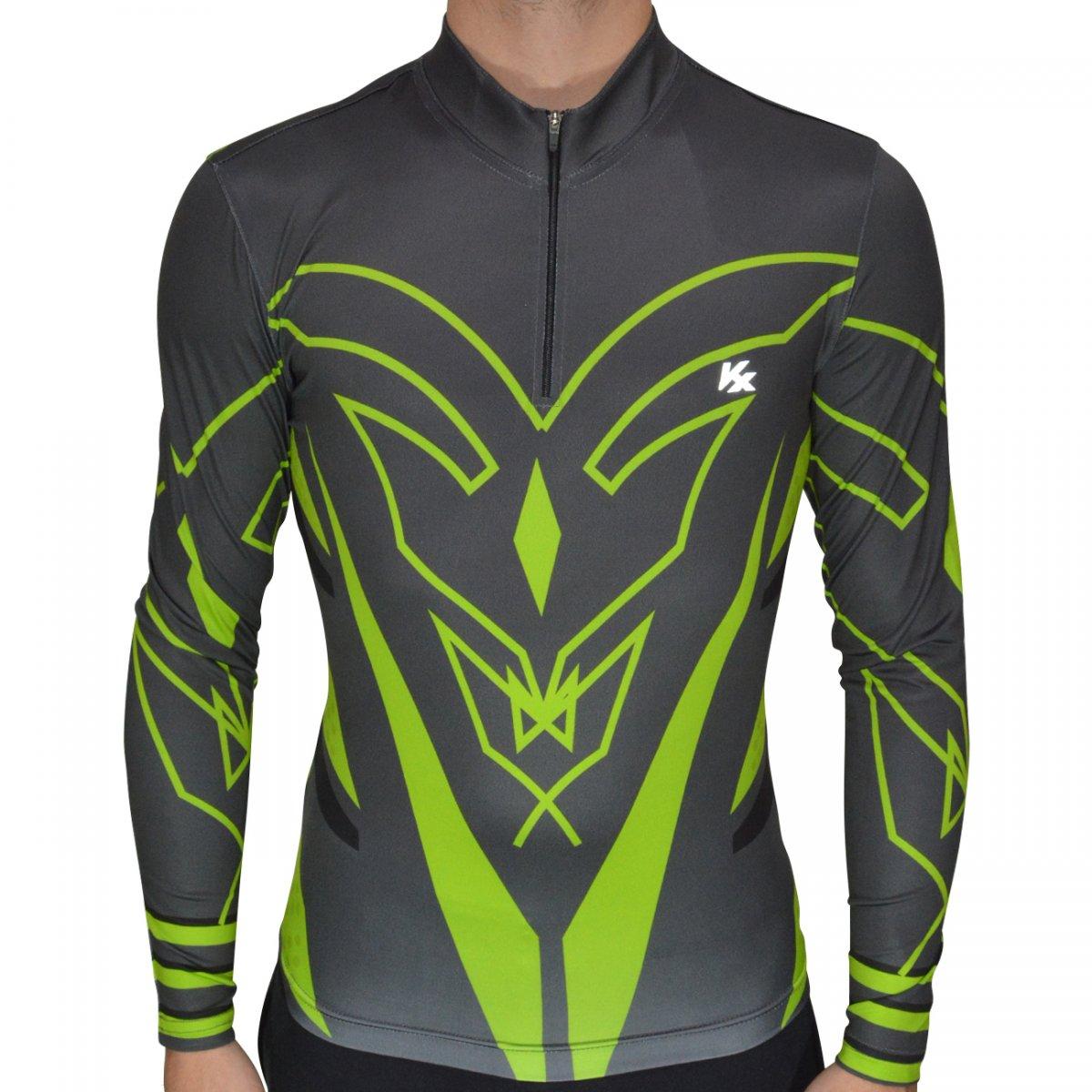 abe3f5e9e7e9b Camisa Kanxa Ciclista 7065 7065 - Chumbo/preto - Chuteira Nike, Adidas.  Sandalias Femininas. Sandy Calçados