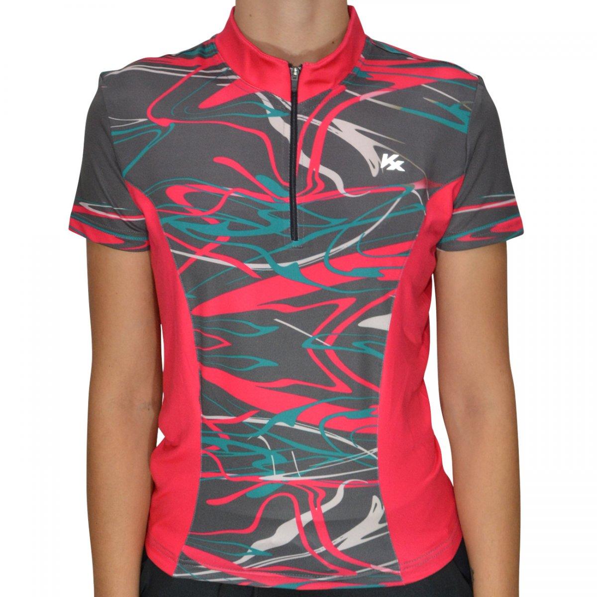 15c17b05127a4 Camisa Kanxa Ciclista Trade 7089 7089 - Rosa/chumbo - Chuteira Nike, Adidas.  Sandalias Femininas. Sandy Calçados