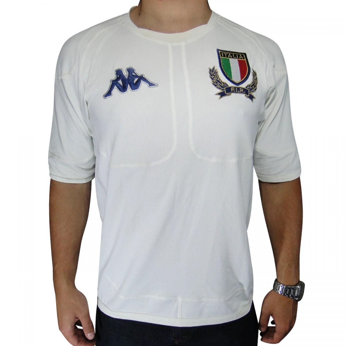 Camisa Kappa Italia Rugby 198824 - Branco - Chuteira Nike 4e1c0acc17700