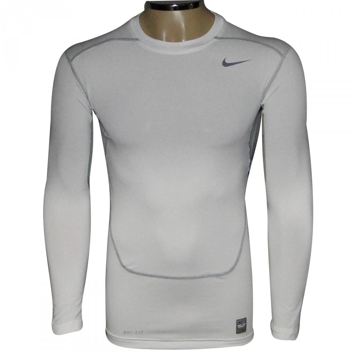 0887f6a4d0 Camisa Nike 449794 Termica 449794-100 - Branco - Chuteira Nike ...
