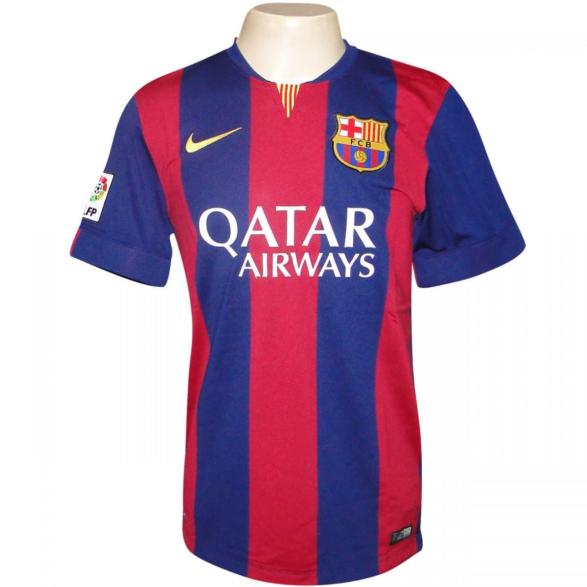 54500e97a3c9d Camisa Nike Barcelona 2014 2015 610594 422 - Marinho Bordo - Chuteira Nike