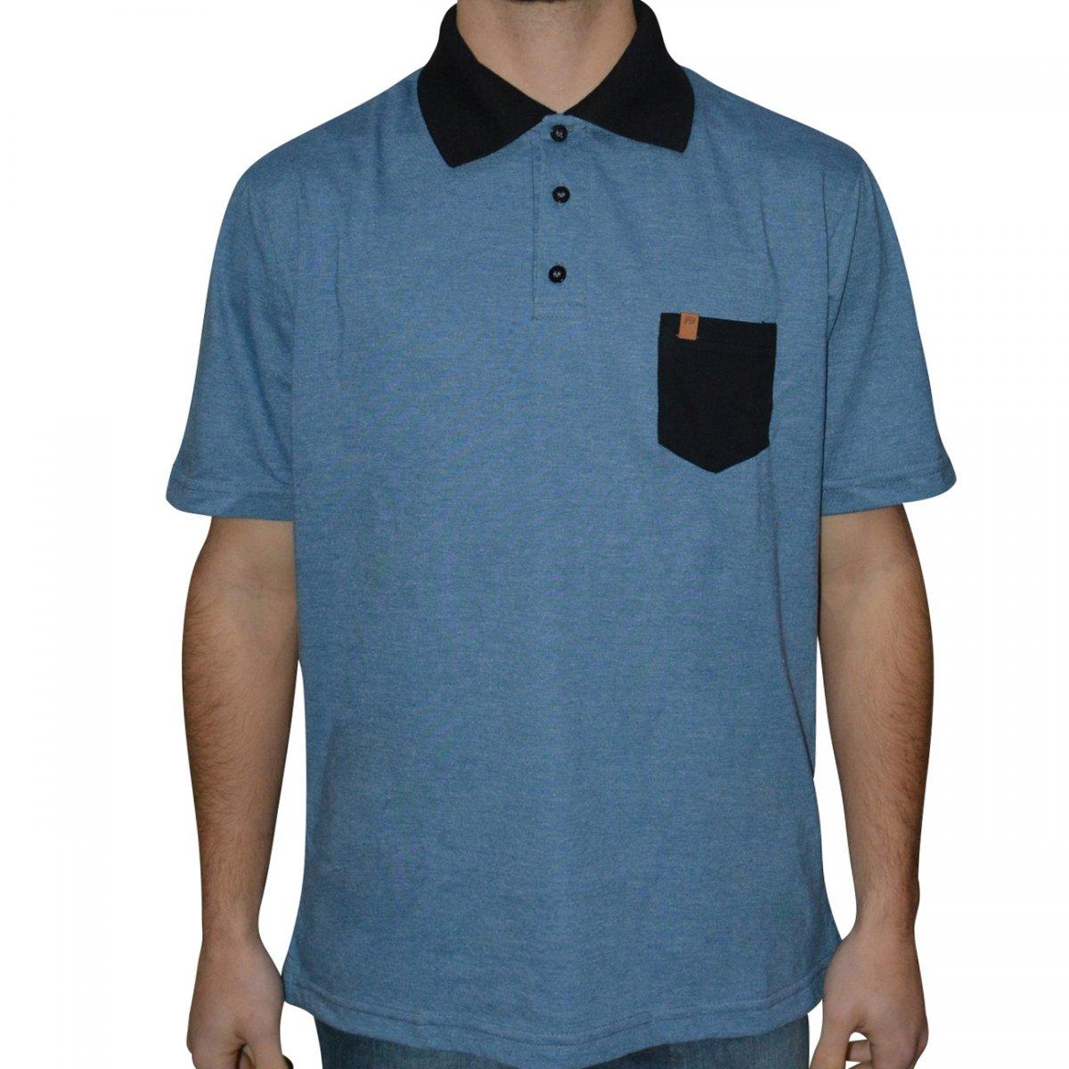 Camisa Polo Free Surf Nice 110502374 - Azul preto - Chuteira Nike ... 555080438cf71