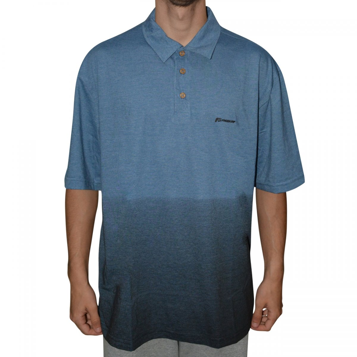 Camisa Polo Free Surf Ocean Big Size 110502388 - Azul mescla - Chuteira  Nike 04fe6990ed40b