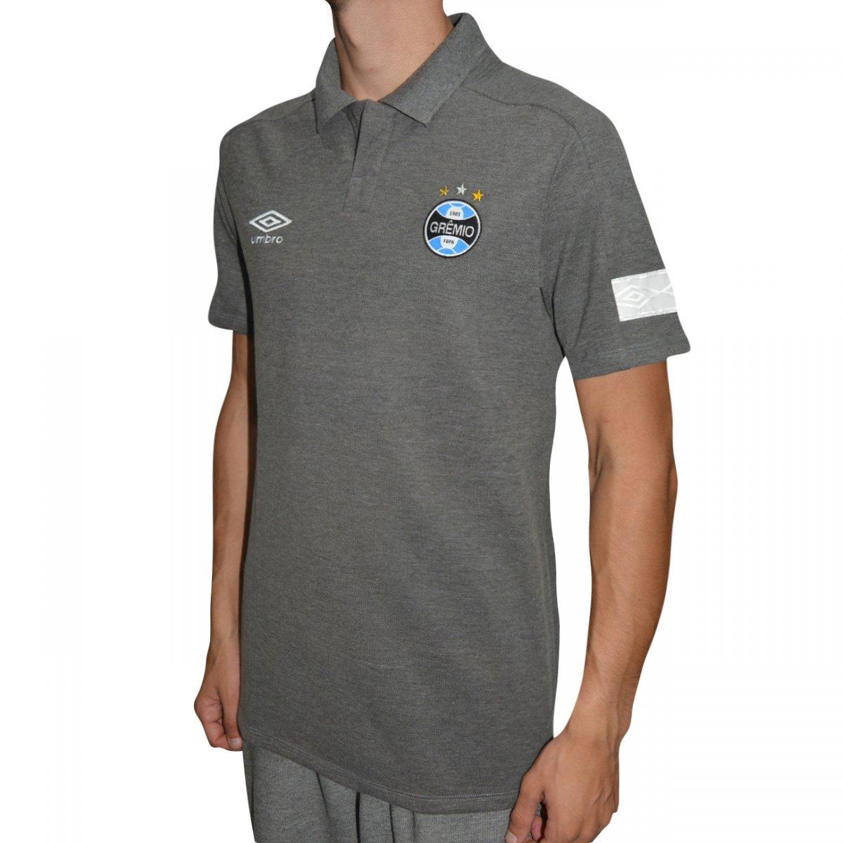 Camisa Polo Gremio Umbro Viagem 2018 771443 - Grafite - Chuteira Nike 7dd7618fd4652