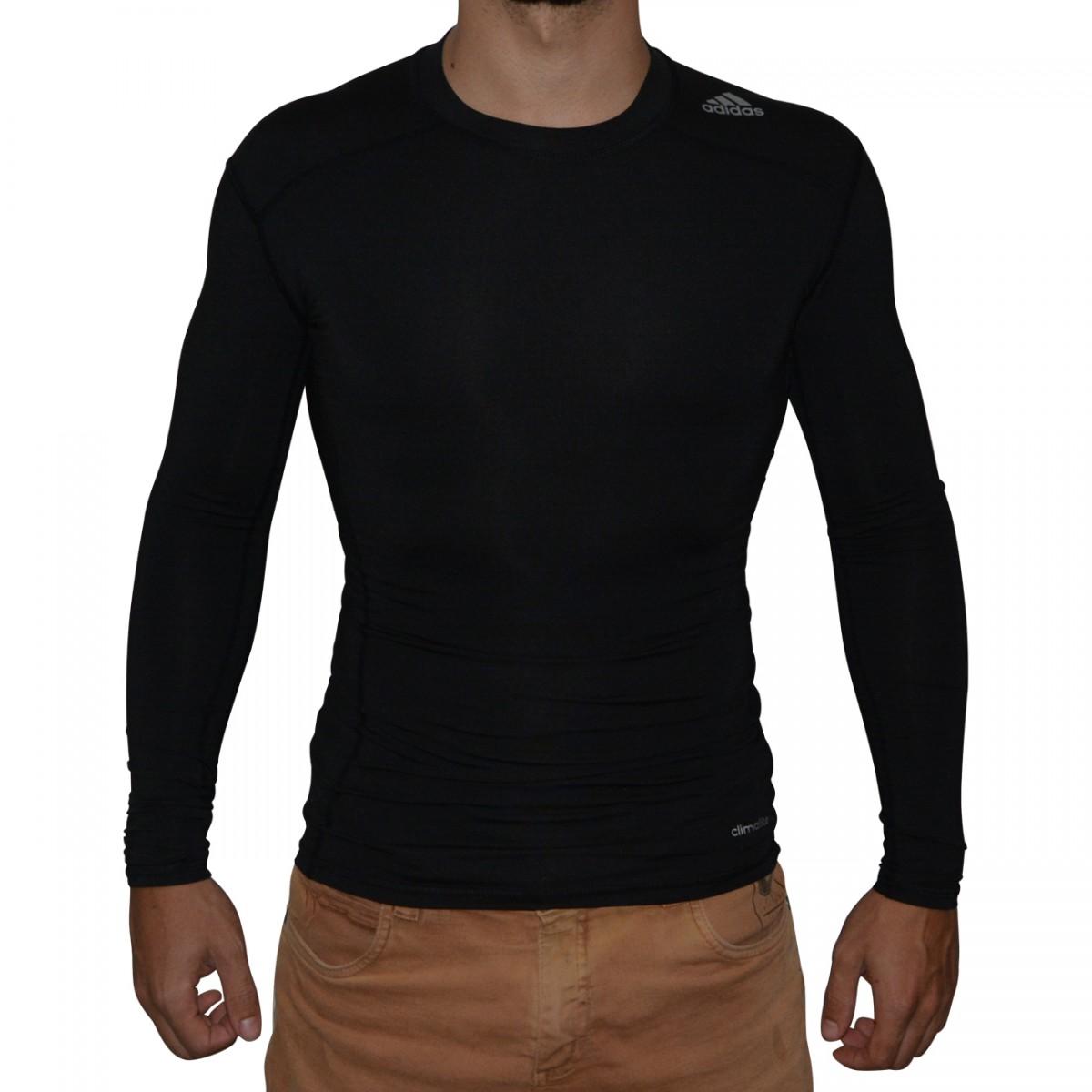 3f7510c856 Camisa Termica Adidas TF Base SL ML AJ5016 - Preto - Chuteira Nike ...