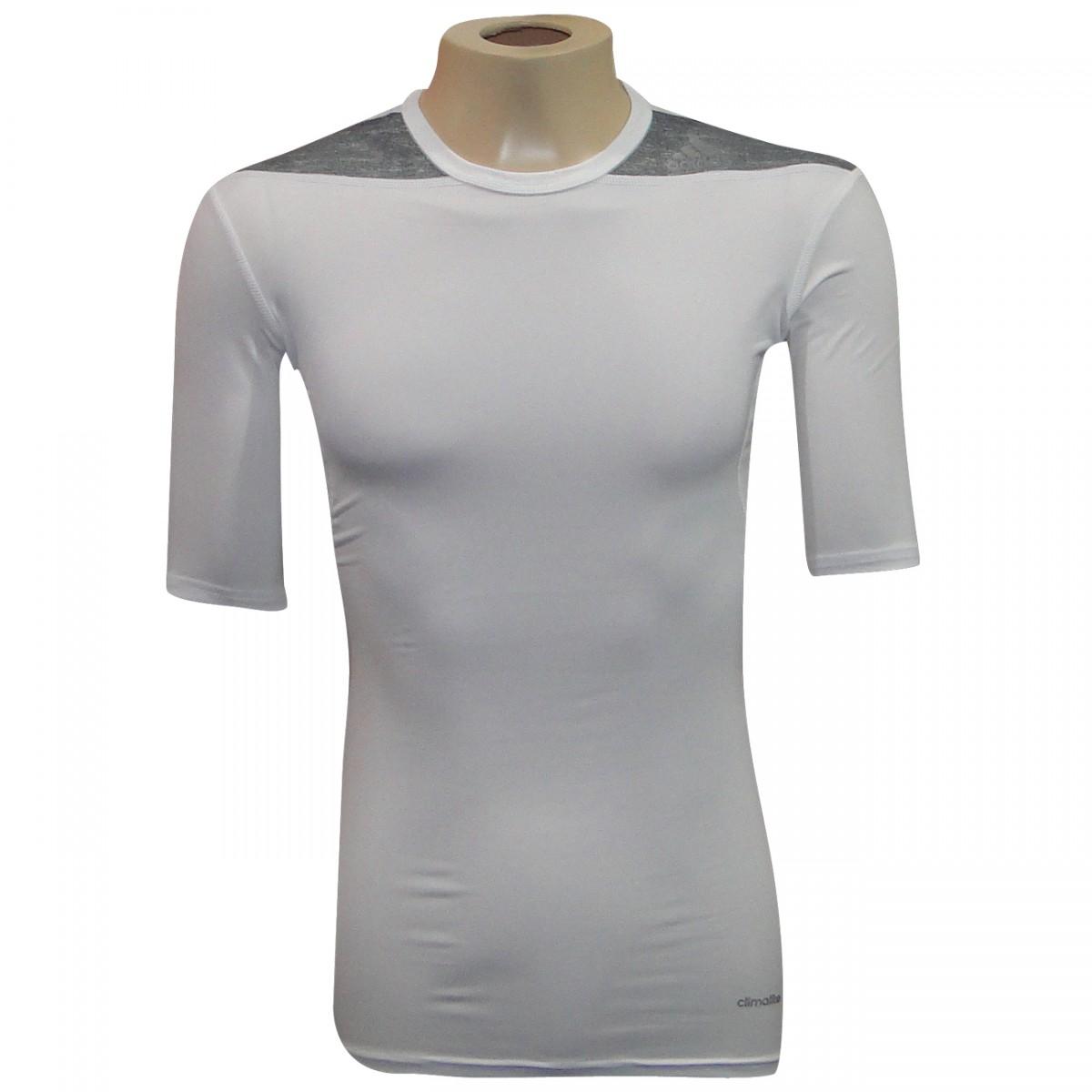 75741ac4a9 Camisa Termica Adidas TF Base SS D82012 - Branco Mescla - Chuteira Nike